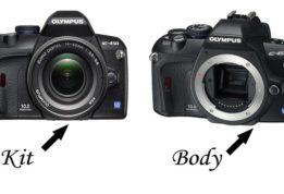 отличие фотоаппаратов Kit от Body