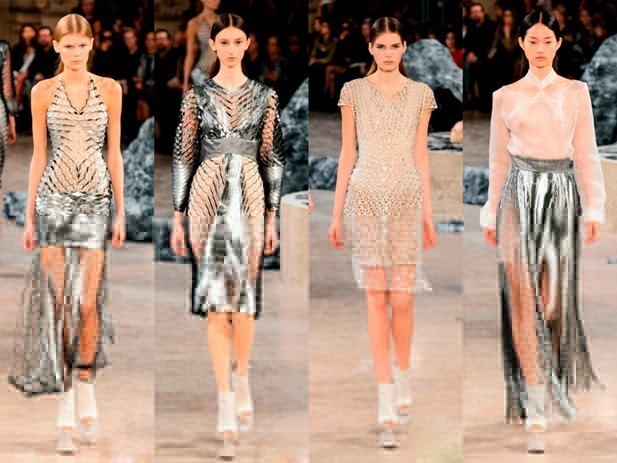 платья и топы с металлизированным эффектом