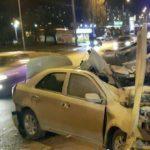 Страшная авария в Киеве: автомобиль разорвало на части