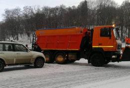 грузовик въехал в джип