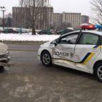 В Киеве патрульный автомобиль попал в аварию