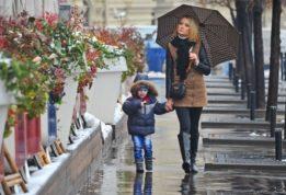 Небольшой снег в столице