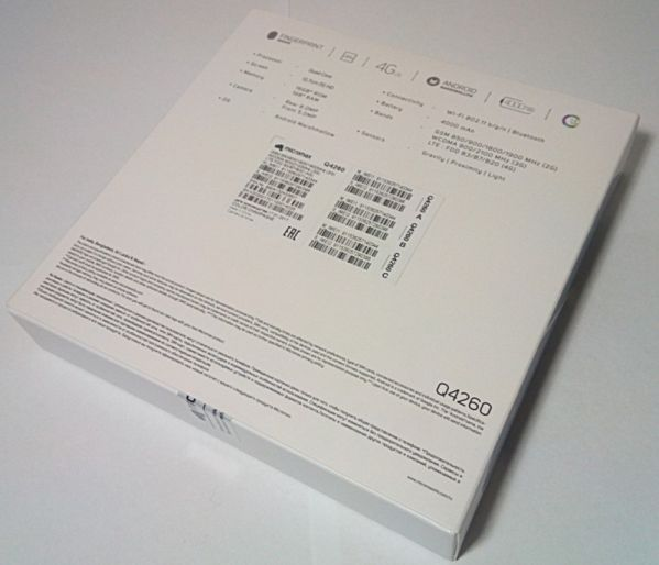 Коробка с Micromax Q4260