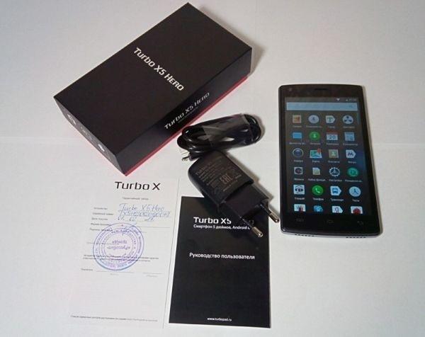 комплектация смартфона Turbo X5 Hero