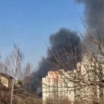 В Киеве разгорелся серьезный пожар