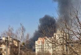 серьезный пожар в Киеве
