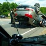 На Одесчине автомобиль сбил женщину и приземлился на крышу