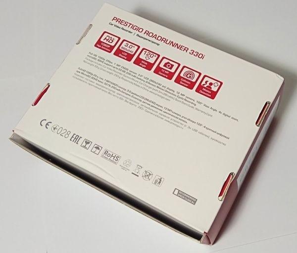 упаковка от видеорегистратора Prestigio Roadrunner 330i