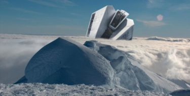фото корабля инопланетян в Антарктиде