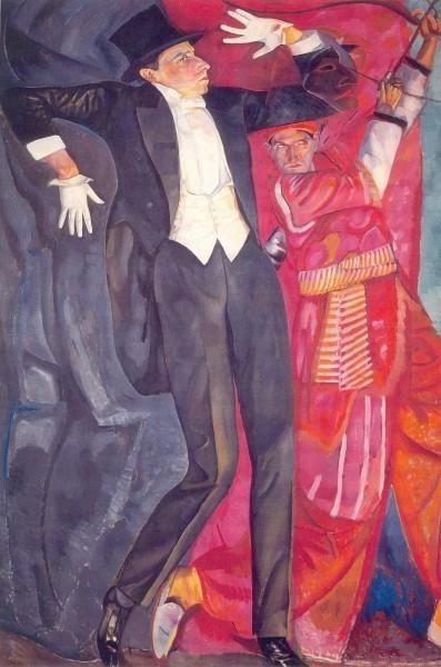 Борис Григорьев. Портрет В.Э. Мейерхольда. 1916. Х., м. 247 х 168